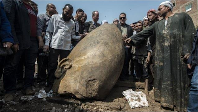 Giant Statues of Egyptian Pharaoh from more than 3,000 years ago found in Mud Pit (See Photos)