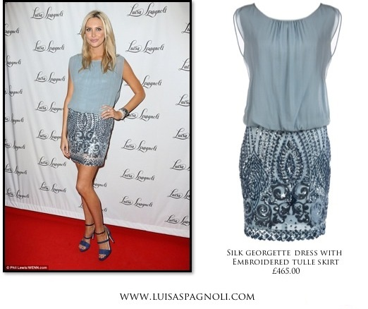 Stephanie Pratt attended Luisa Spagnoli s store launch party last week  wearing one of their gorgeous dresses  403a715abc0