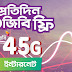 Experience Robi 4.5G Network! enjoy daily 1GB FREE Internet!