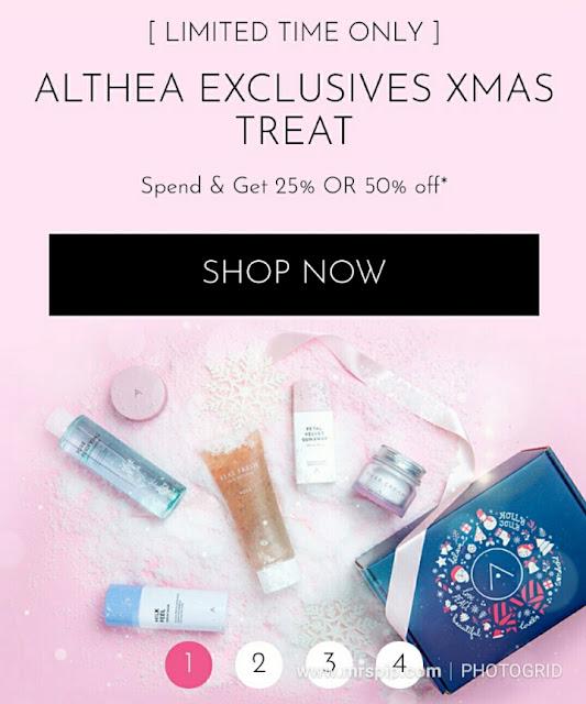 Althea Exclusive diskaun 50% sehingga 19.12.2018