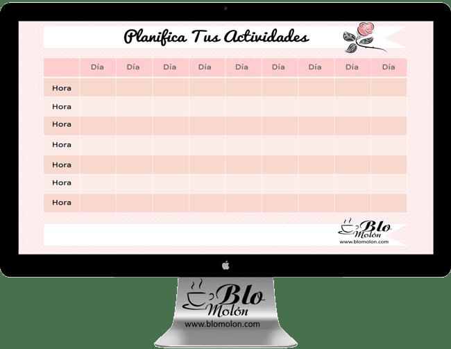 planificador de actividades y horarios