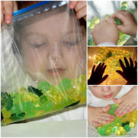 Spring Themed Sensory Bag. Sensory Spring Activities.
