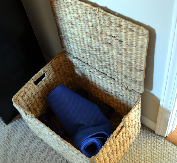 Yoga Mat in Basket