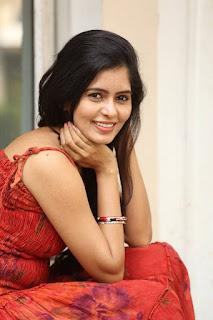 Actress Madhumitha Stills in Red Dress at Lajja Movie Press Meet  0027