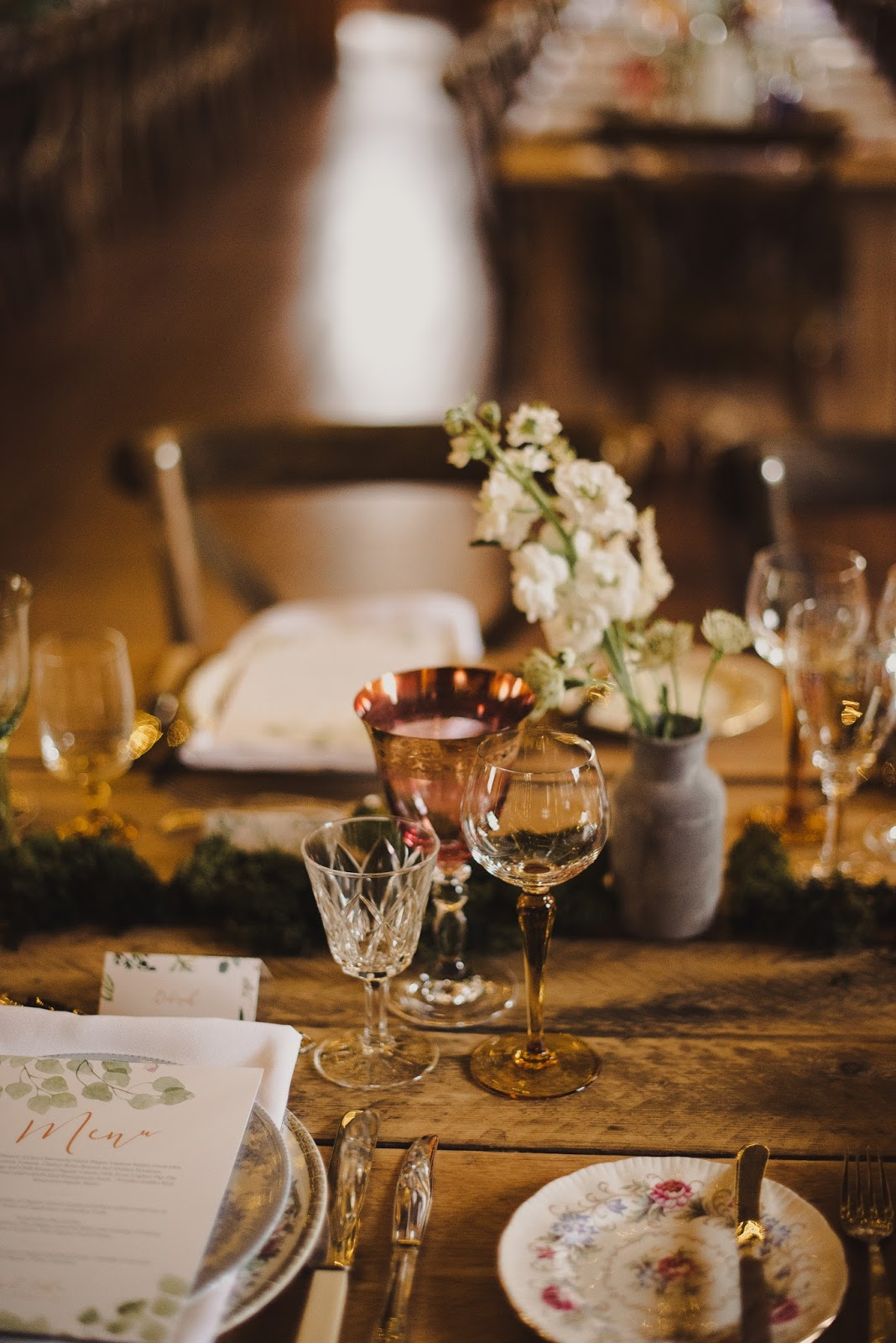 Scotland wedding inspiration mismatched place setting hipster tables