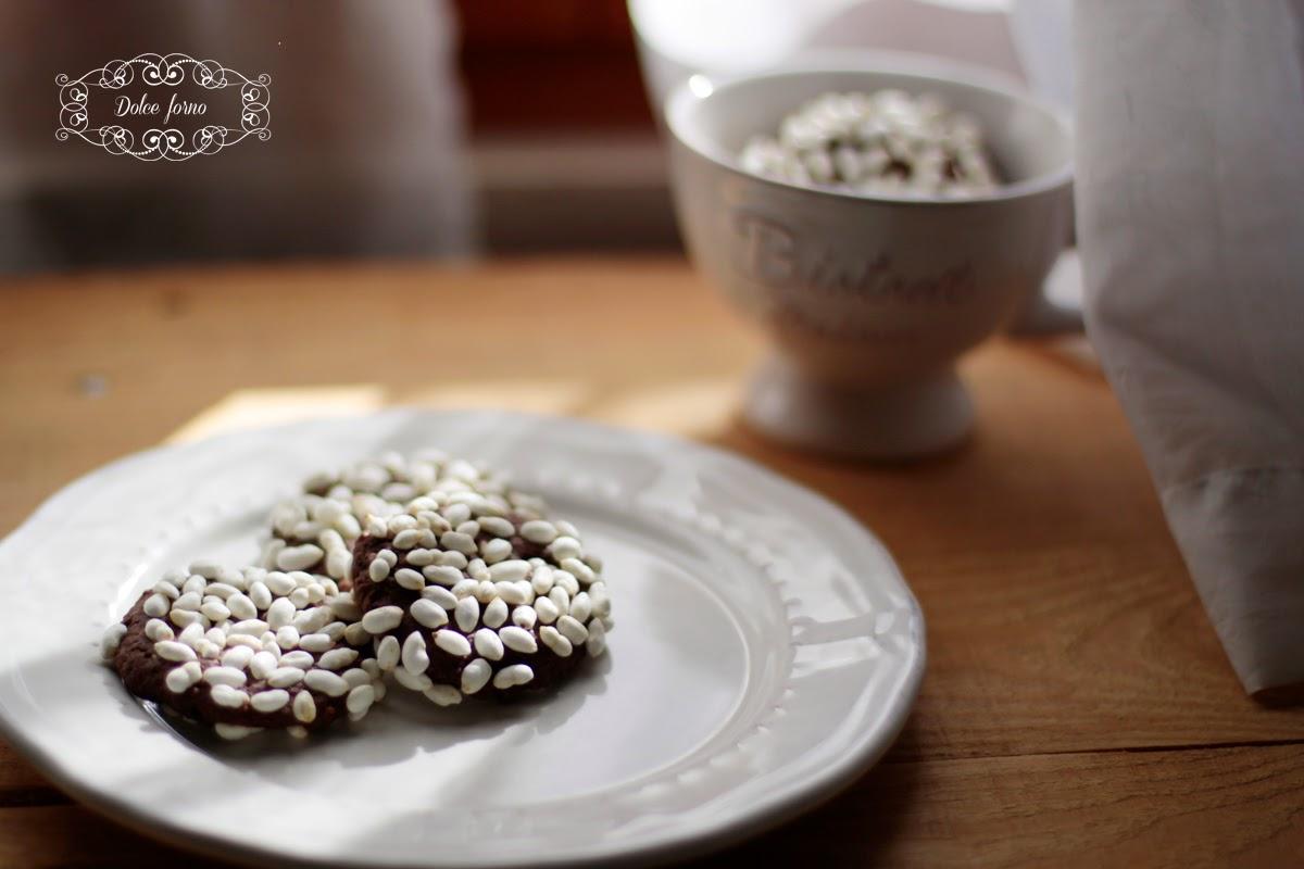 Biscotti con riso soffiato  dolce forno