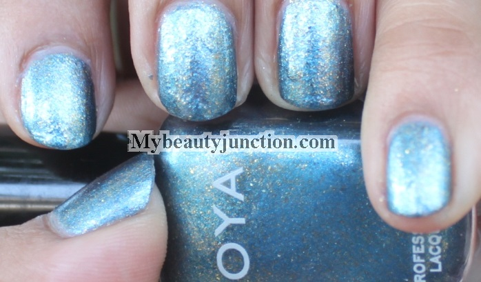Zoya Crystal blue nail polish swatches, review, photos