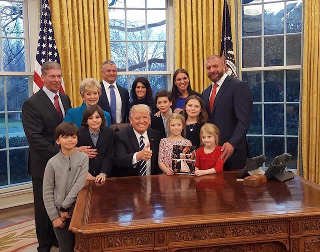 WWE McMahon family support Donald Trump