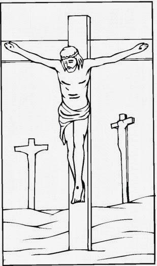 Imagenes De Jesus Crucificado Para Colorear Para Ninos