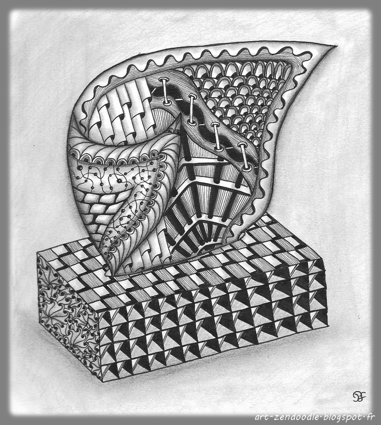 zendodle, zentangle tissue box
