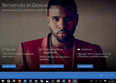Groove Music app per windows 10