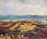 Low Tide at Yport by Pierre-Auguste Renoir - Landscape Paintings from Hermitage Museum