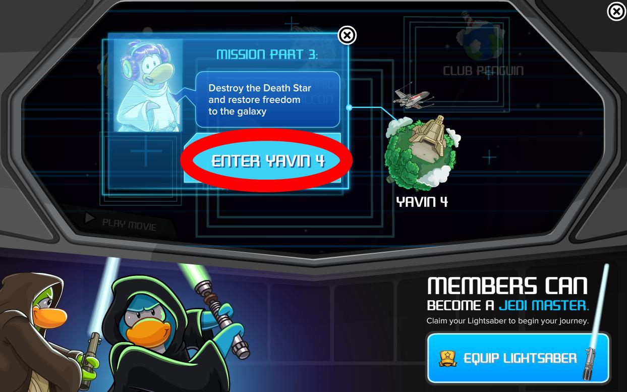 Club Penguin Cheats : Club Penguin Star Wars: Mission Part 3