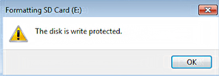 The disk is write protected fix