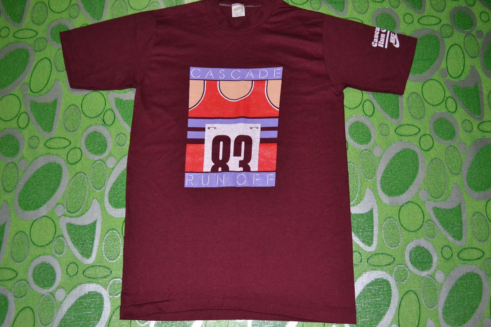 d371d3bdb6710 OldSchoolZone: Vintage 1983 NIKE Cascade Run Off 50/50 t-shirt (SOLD)