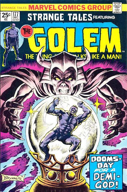 Strange Tales v1 #177 marvel comic book cover art by Frank Brunner