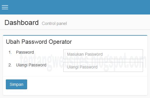 Cara Merubah Pasword Akun Operator