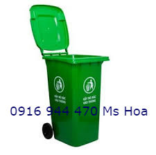 Bán thùng rác120L,thùng rác 240L, thùng rác 660L, giá ưu đãi. 0916.944.470 Ms Hoa