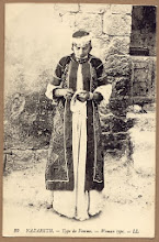 Nablus girl, early 20th C postcard