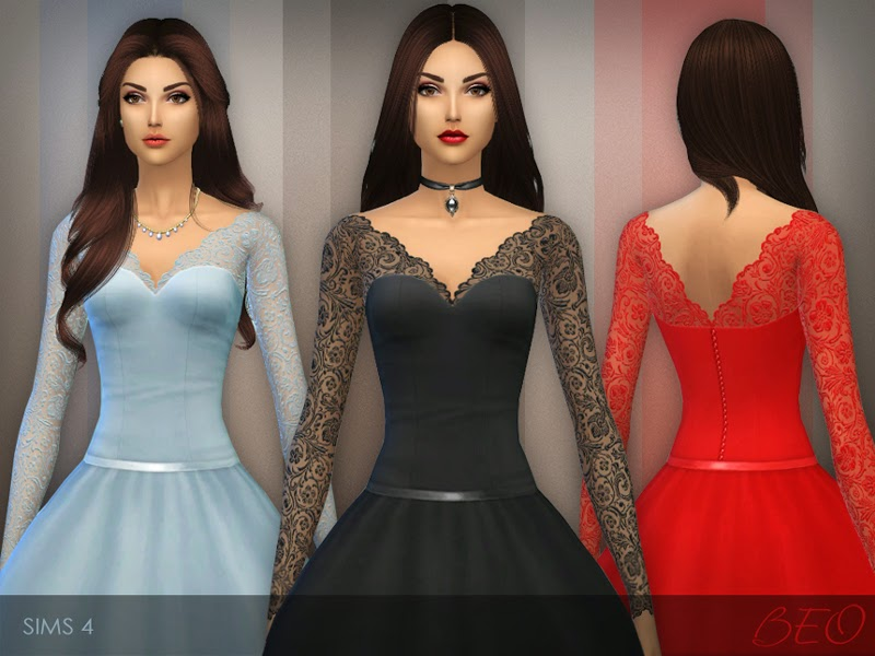 My Sims 4 Blog: Wedding Dresses By BEO