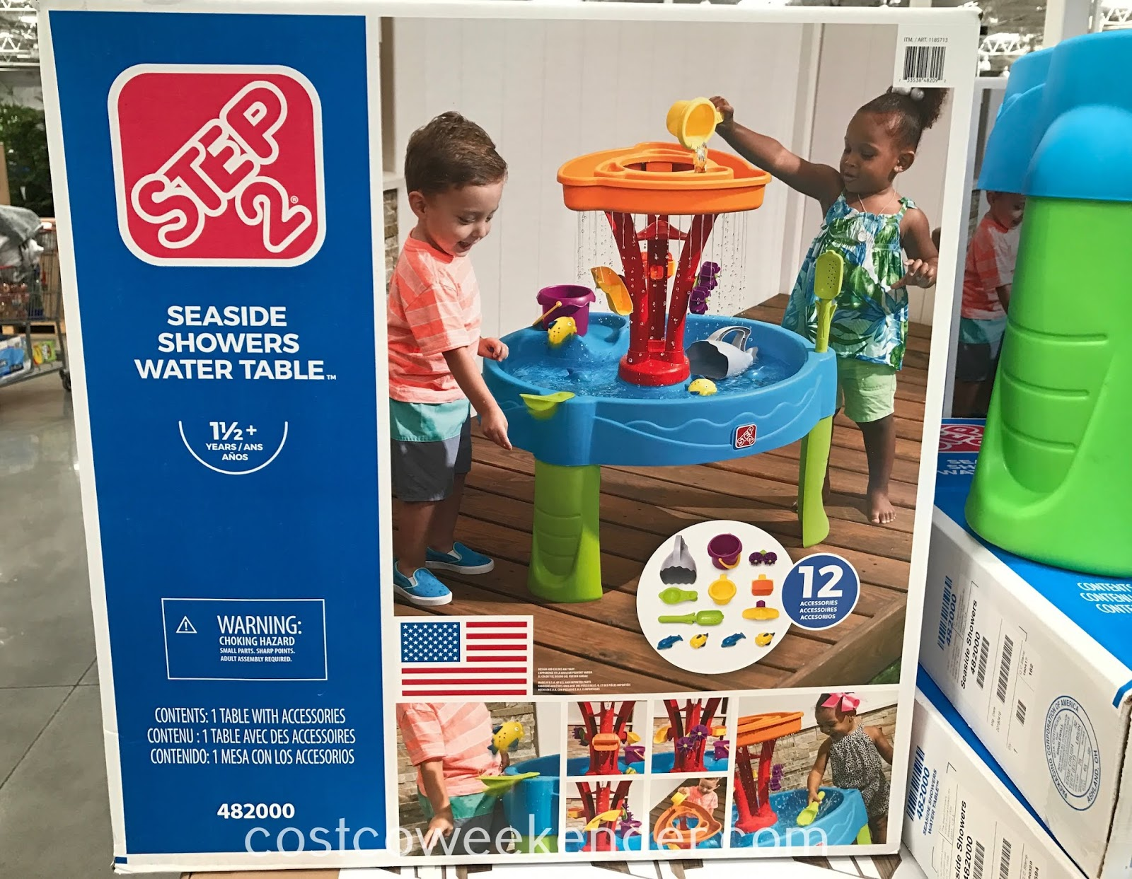 Costco 1185713 - Keep your kid busy for hours with the Step2 Seaside Showers Water Table