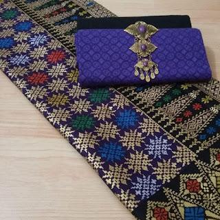 Kain Batik Primis dan Embos 14 motif prada ungu