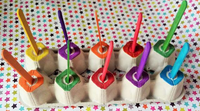 zabawki diy dla dzieci patyczki kreatywne