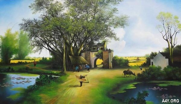 cảnh làng quê