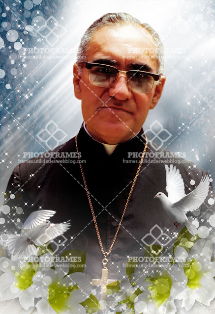 Imagen de San Romero para decorar cuadernos, biblias, habitaciones o lo que se te ocurra.