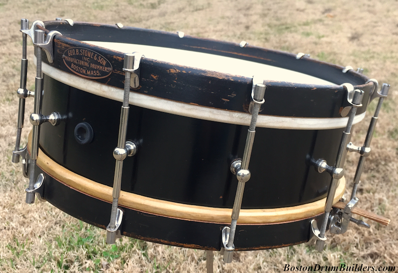 1925 Geo. B. Stone & Son Black Beauty Separate Tension Snare Drum