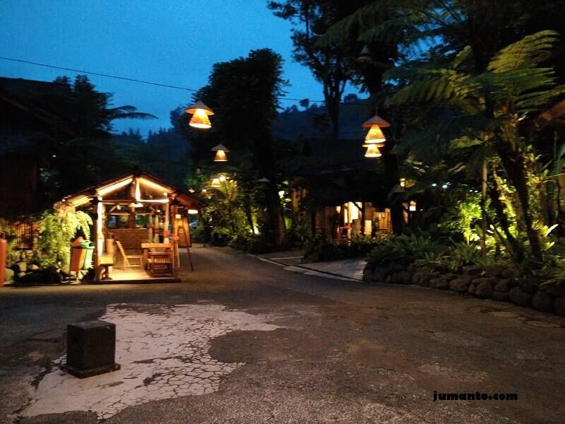 kampung daun malam hari