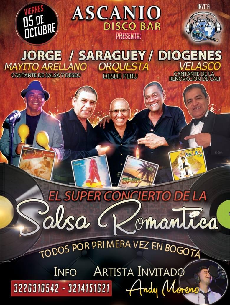"""► Saraguey Orquesta, Jorge Mayito Arellano """"Salsa y Deseo"""", Diogenes Velasco """"Renovación de Cali"""" y Andy Moreno en Concierto"""