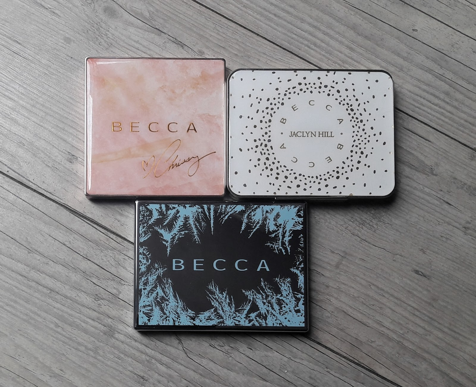 palettes highlighters blushes bronzer becca