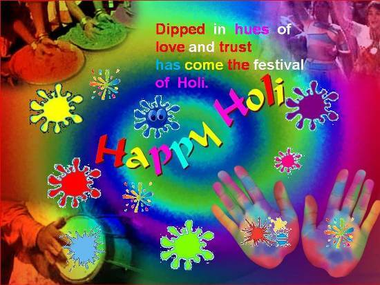 Happy Holi Greeting Cards for Whatsapp