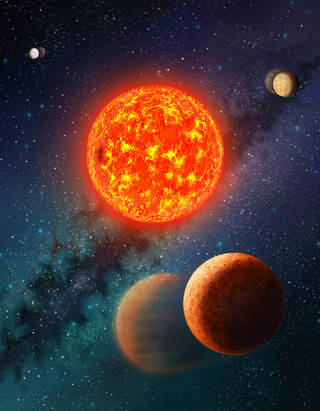 Measuring of the Mass-Mars size of  Exoplanet