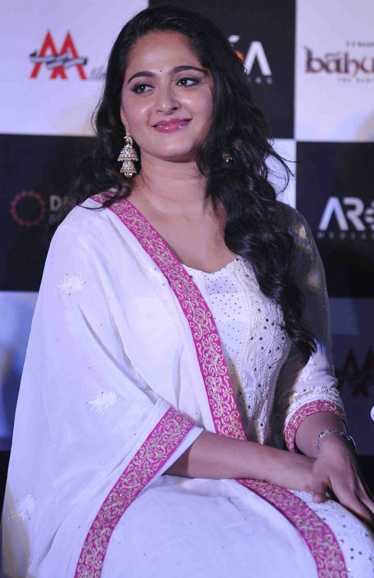 Tollywood Actress Anushka Shetty Stills In White Dress