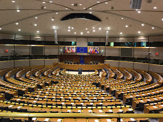 Pic of the European Parliament's debating chamber in Brussels