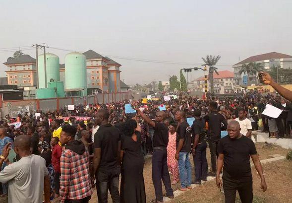 PDP Protest in Ebonyi over Ihedioha's Sack