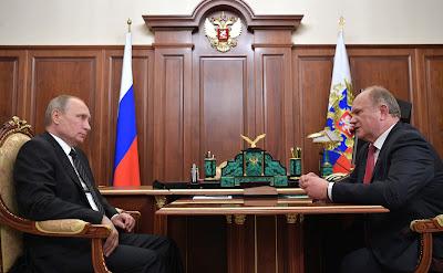 Vladimir Putin, Gennady Zyuganov.