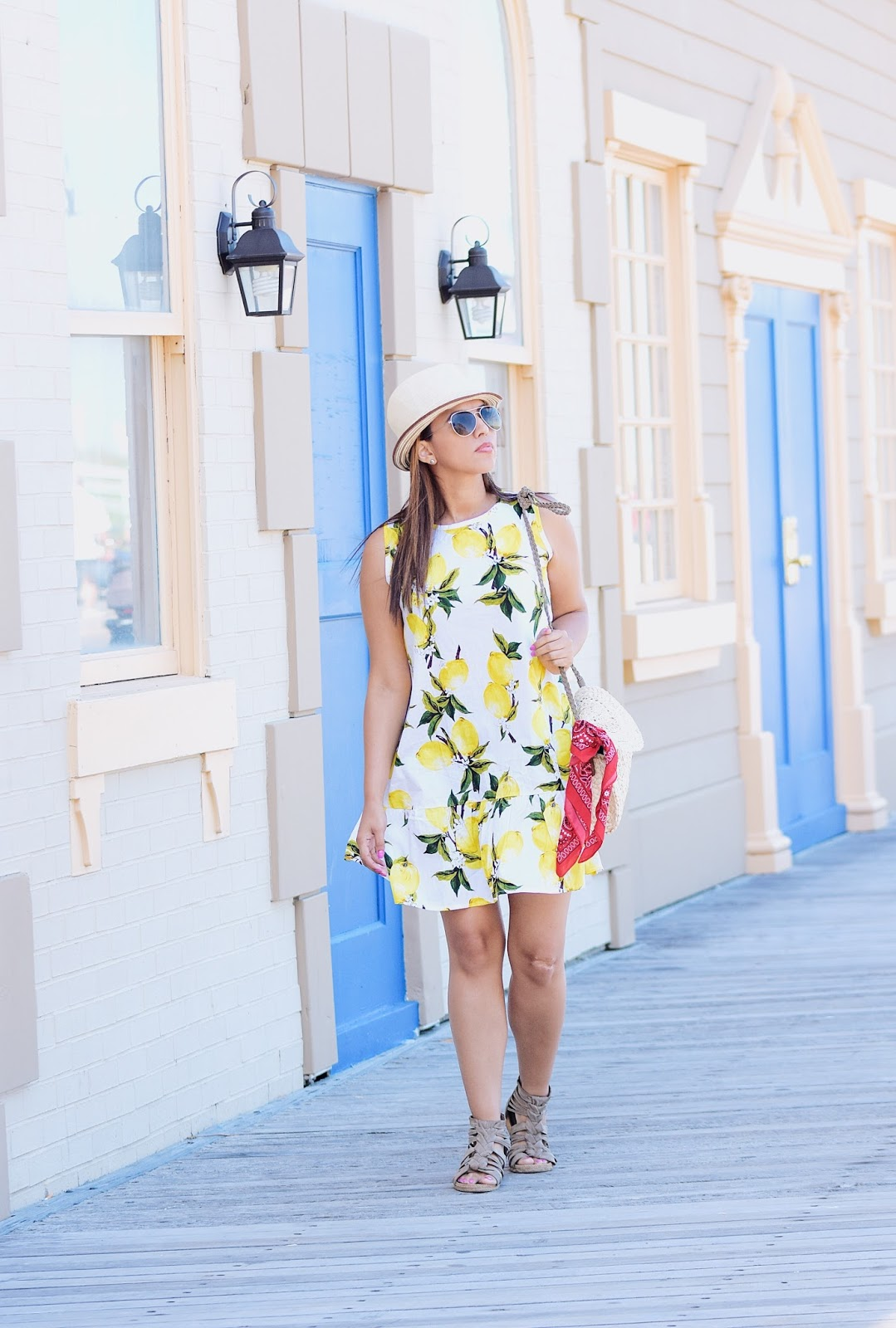 Lemon Dress by Mari Estilo - Wearing: Lemon Dress: Zaful Shoes: Kenneth Cole