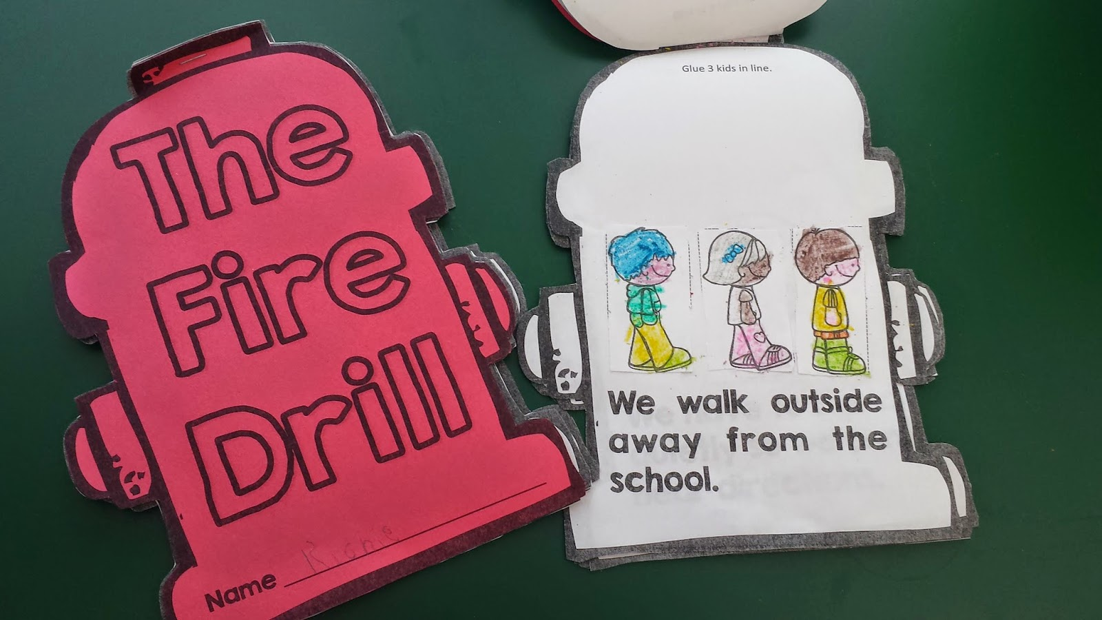 photo of fire drill booklet