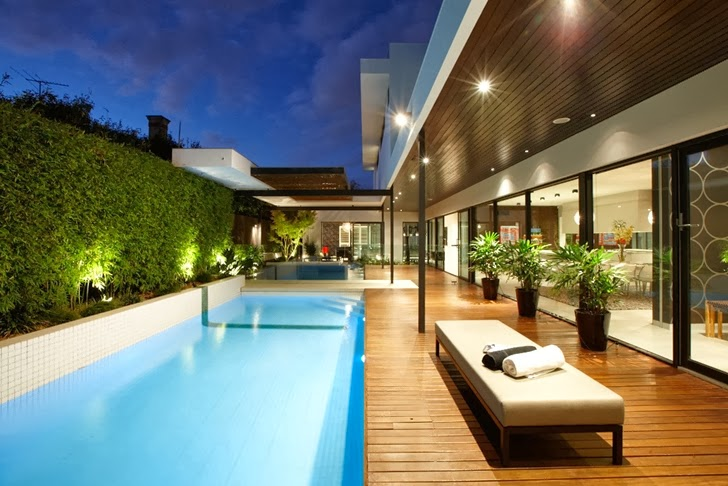 World of Architecture: Beautiful Modern Backyard by Cos Design on Modern Backyard Ideas With Pool id=94207