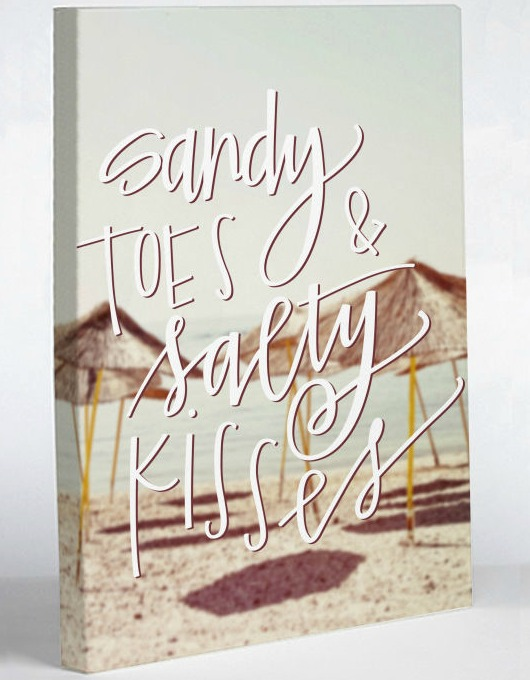 Sandy Toes and Salty Kisses Canvas