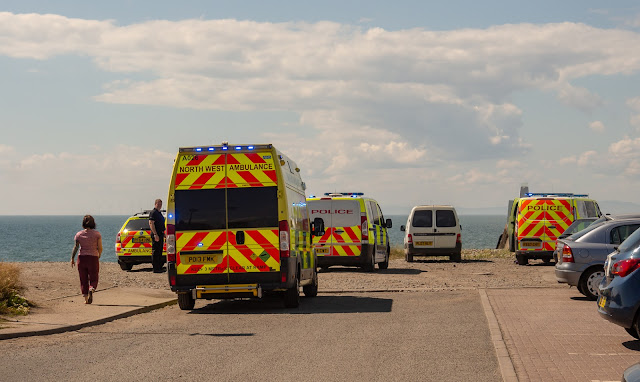 Photo of the ambulance arriving at Maryport pier