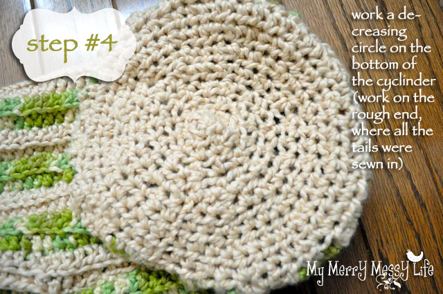 Ribbed Baby Cocoon Crochet Pattern - Step 4