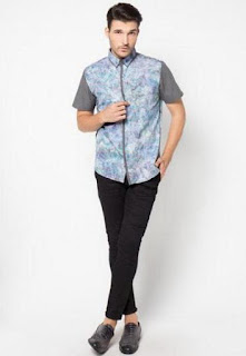 Baju batik pria trendy untuk ke kantor