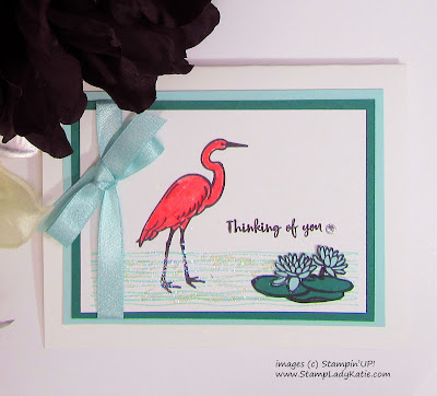 Card made with Stampin'UP!'s Lilypad Lake stamp set by StampLadyKatie