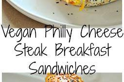 Vegan Philly Cheese Steak Breakfast Sandwiches