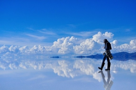 Salar De Uyuni, Largest mirror in the World in Southwest Bolivia
