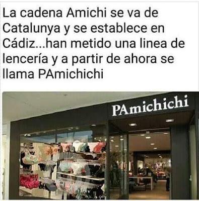 Amichi , Catalunya, Cádiz , pamichichi, lencería